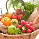 Fresh produce from the farmers market — Stock Photo #55595873