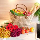 Fresh produce from the farmers market — Stock Photo