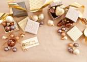 Färgglada julgranskulor — Stockfoto