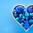 Blue christmas baubles — Stock Photo #56043069