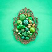 Adornos de navidad verde — Foto de Stock