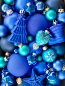Background wth christmas baubles — Stock Photo
