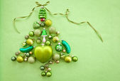 Enfeites de natal verde — Fotografia Stock