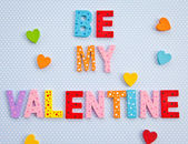 Be my Valentine on blue background — Stock Photo