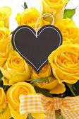 Fresh yellow roses — Stock Photo