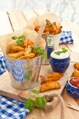 Fresh potato wedges — ストック写真
