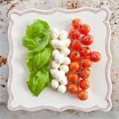 Ingredients for Caprese Salad — Stock Photo