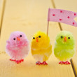 Colorful easter chicks — Stock Photo #65990645