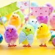 Colorful easter chicks — Stock Photo #65993099
