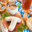 Bavarian white sausages — Stock Photo #70657973