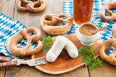 Salsicce bianche bavaresi — Foto Stock