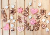 Variety of christmas cookies — Stock Photo