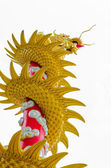 Chinese Dragon is reaching the sky (isolation) — Stock Photo