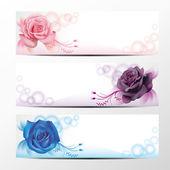 Rose banner collection 2 — ストックベクタ