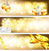 Golden celebration and sales ornament banner background, create — Cтоковый вектор