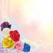 Fondo colorido rosas — Vector de stock