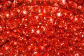 Closeup of a ruby crystal pattern background from a Chandelier — Stock Photo