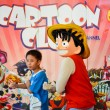 BANGKOK, THAILAND - MARCH 31: Thai kid duplicates Luffy's move in the 3rd Thai-Japan anime festival on March 31, 2013 in Bangkok. Luffy is a famous international Japanese anime character from One Piece. — Stock Photo #73919577