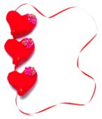 Valentines Day - red hearts — Stock Photo