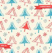 Seamless Christmas pattern — Stockvektor