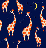 Seamless pattern with giraffes. — Stock Vector