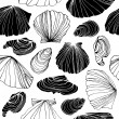 Seamless marine pattern with shells — Stock Vector #78262680