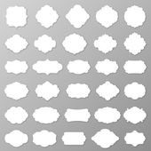 Blank frames and labels — Stock Vector