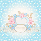 Greeting card. Vintage background. — Stock Vector