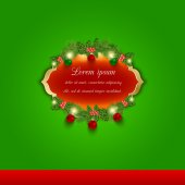 Christmas vector greeting and invitation card. — Stock Vector
