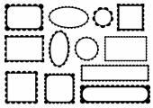 Set of frames — Stock Vector