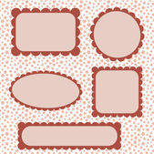 Scalloped frames — Vector de stock