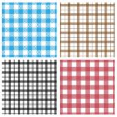 Gingham patterns — Stock Vector