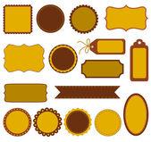 Autumn labels — Stock Vector
