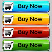 Vector comprar botones — Vector de stock
