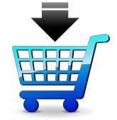 Vector shopping icon — Stock Vector