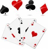 Vector casino cards — Stock Vector