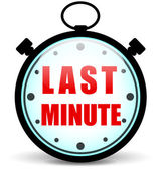 Vector last minute stopwatch — Stock Vector