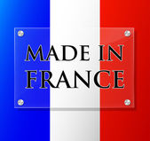Vector made in france sign — Stock Vector