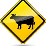 Vector cow sign — Stock Vector #54106861