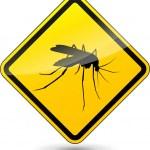 Vector beware mosquitos sign — Stock Vector #54107665