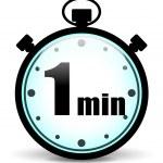 Vector one minute stopwatch — Stock Vector #54107831
