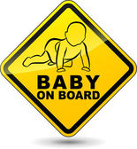 Vector baby on board sign — Stock Vector