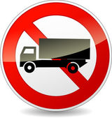 Vector no trucks sign — Stock Vector