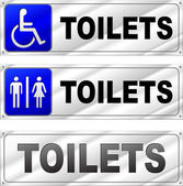 Vector toilets design signs — Stockvector