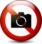 Никакой знак камеры — Cтоковый вектор