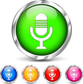 Microphone set icons — Stock Vector