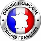 French origin icon — Stock Vector