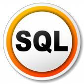 Sql orange icon — Stock Vector