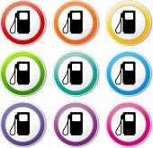 Fuel pump icons — Stock Vector