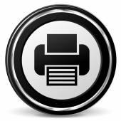 Print metal icon — Stock vektor